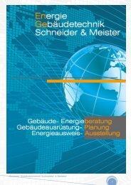 Energie- Gebäudetechnik Schneider & Meister