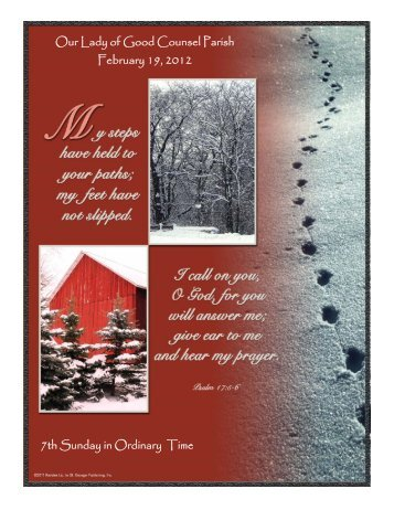 Mass Intentions For the week of February 19, 2012