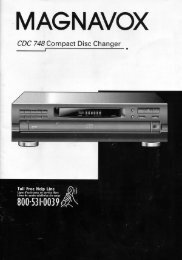 Page 1 | MAGNAVOX CDC 748 Compact Disc Changer Page 2 ...