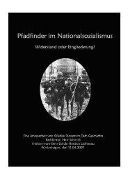 Pfadfinder im Nationalsozialismus - Widerstand oder Eingliederung?