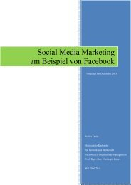 Social Media Marketing am Beispiel von Facebook