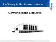 Germanistische Linguistik - Universitätsbibliothek Freiburg