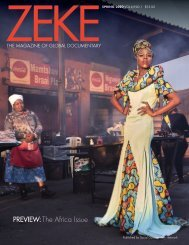 Preview of Spring 2020 issue of ZEKE magazine. Special Africa issue.