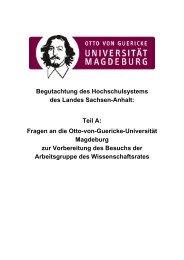 Begutachtung des Hochschulsystems des Landes Sachsen-Anhalt ...