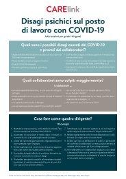 Disagi psichici sul posto di lavoro con COVID-19