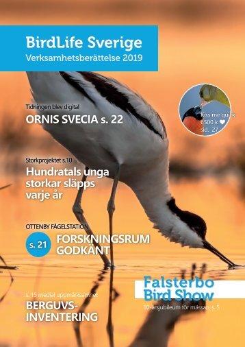 Verksamhetsberättelse BirdLife Sverige 2019