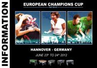 european champions cup - International Table Soccer Federation