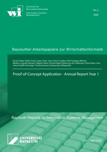 Proof-of-Concept Application - Annual Report Year 1