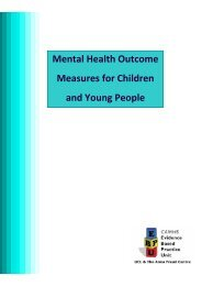 Mental Health Outcome Measures for Children and Young People