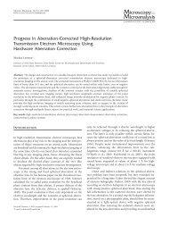 Progress in Aberration-Corrected High-Resolution Transmission ...