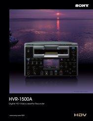HVR-1500A - Sony