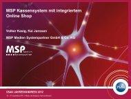 Point of Sale, Call-Center und Online Shop - MSP Medien ...