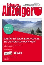 Schwyzer Anzeiger – Woche 16 – 17. April 2020