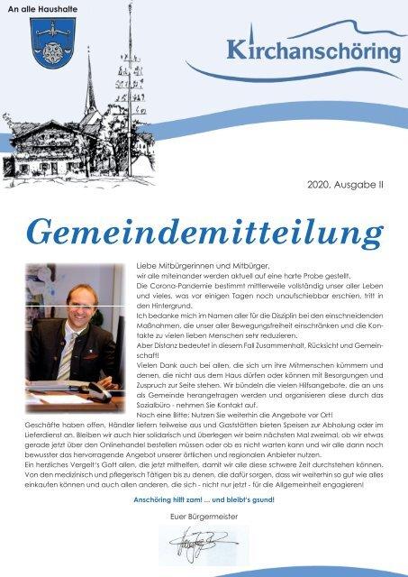 Gemeindemitteilung Kirchanschöring 2020-2