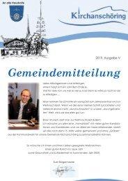 Gemeindemitteilung Kirchanschöring 2019-5
