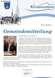 Gemeindemitteilung Kirchanschöring 2019-4