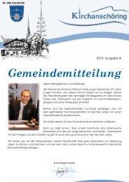 Gemeindemitteilung Kirchanschöring 2019-3