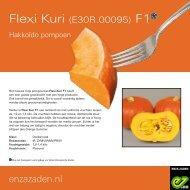 Leaflet Hakkoïdo pompoen Flexi Kuri F1