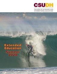 Summer 2020 CSUDH Extended Education Catalog (Interactive)