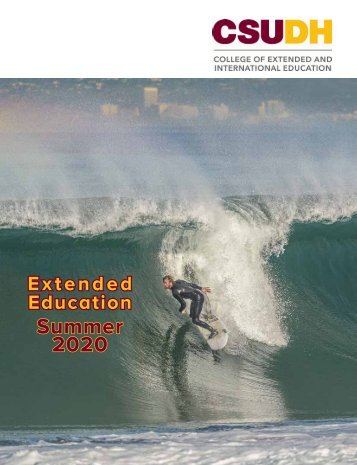 Summer 2020 CSUDH Extended Education Catalog (Interactive)