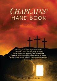 Chaplains Handbook and Prayerbook