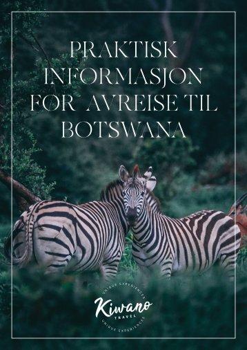 Botswana Praktisk Informasjon