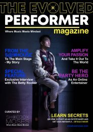 The Evolved Performer Magazine - Issue 1