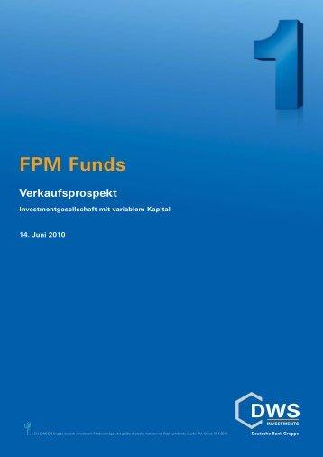 FPM Funds Verkaufsprospekt - FPM-AG