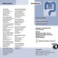 Symposium Darmkrebs - Städtisches Klinikum Karlsruhe