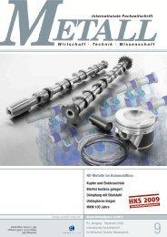 NE-Metalle im Automobilbau Wirtschaft · Technik ... - Metall-web.de
