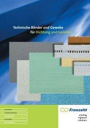 Technische Bänder und Gewebe - Frenzelit Werke GmbH