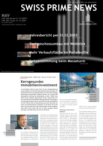 Kerngesundes Immobilieninvestment Mehr ... - Swiss Prime Site