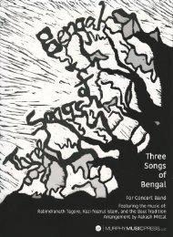 MMP Three Songs of Bengal Score