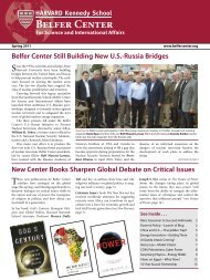 Spring 2011 Newsletter PDF.pdf - Belfer Center for Science and ...