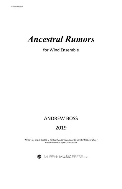 Ancestral Rumors - FULL SCORE_new