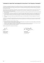 30 STATEMENT OF DIRECTORS' RESPONSIBILITIES IN ...