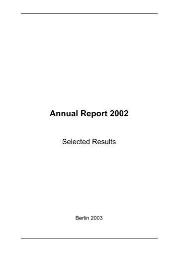 Annual Report 2002 - Helmholtz-Zentrum Berlin