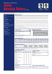 Japan Absolute ReturnFund - Henderson Global Investors
