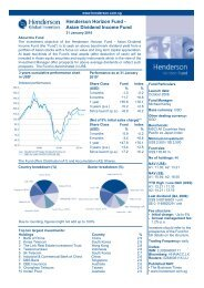 Asian Dividend Income Fund - Henderson Global Investors