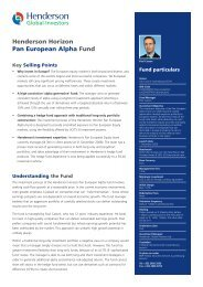 Henderson Horizon Pan European Alpha Fund - Henderson Global ...