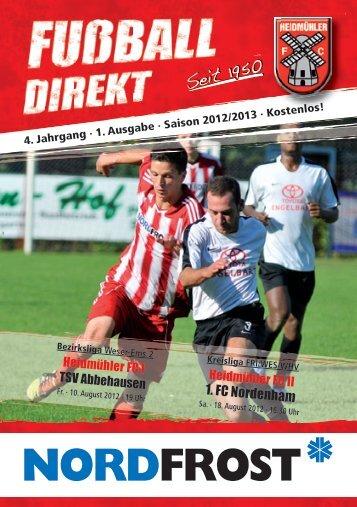 Heft 1 Saison 2012/13 - Fußballabteilung