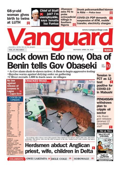 20042020 - Lock down Edo now, Oba of Benin tells Gov Obaseki
