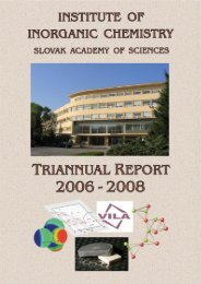 Foreign Cooperating Institutions - Institute of Inorganic Chemistry ...