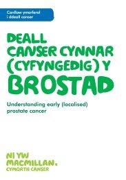 Deall cAnSer CYNNAR (CYFYNGEDIG) Y - Macmillan Cancer Support