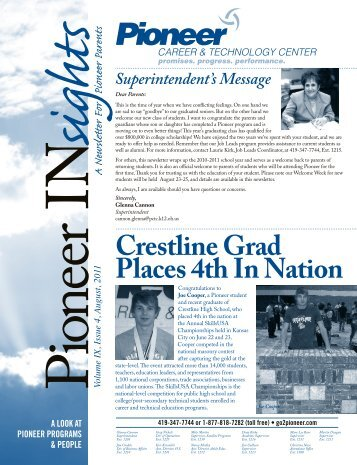 Insights August 2011 Volume IX, Issue 4 - Pioneer Career ...
