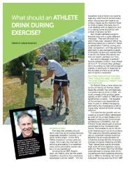 What should an athlete drink during exercise?