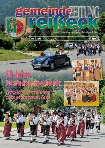 Aus dem Familien- ausschuss - Gemeinde Reißeck
