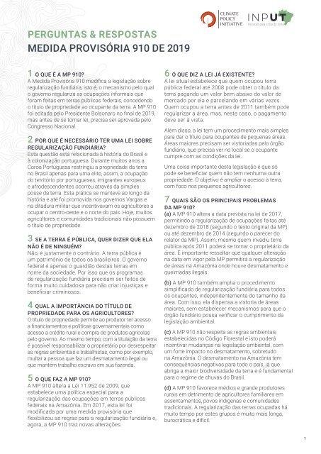Perguntas e respostas sobre a Medida Provisória 910 de 2019
