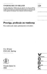 Prestige, professie en wanhoop - WODC