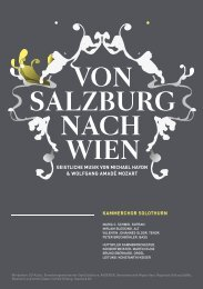 von salzburg nach wien - Kammerchor Solothurn
